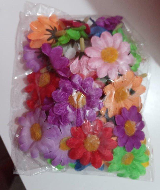 FINE SERIE fiorellini in stoffa fiori decorazioni bomboniere sacchettini fai da te
