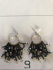 Orecchini nero (perno)