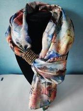 Foulard gioiello in seta