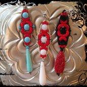 Coppia di orecchini flamenco