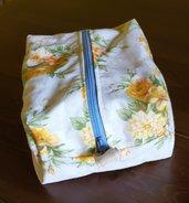 Beauty case in cotone trapuntato