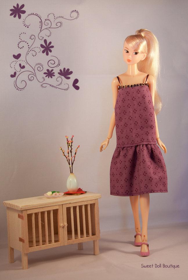 Abito porpora per Momoko Doll