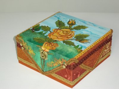 """Portagioie box """" THE ORANGE ROSE"""""""