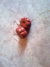 orecchini biscotti all'amarena