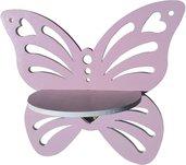 Mensola Forma di Farfalla Traforata (Rosa)
