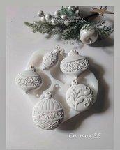 stampo in silicone palline natalizie