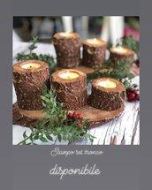 stampo in silicone natalizio set di vassoio tronco e portacandela