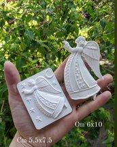 stampo in silicone coppia angeli natale