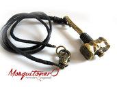 Collana Martello per gli uomini, collana da uomo cavo pelle, bronzo idee regalo per lui, tribale collana, gioielli uomo, thor