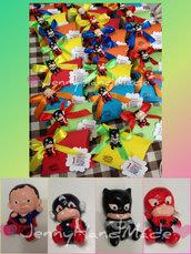 Gadget compleanno gessetti supereroi baby compleanno chiudifesta ricordino