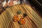 orecchini sole e petali arancio