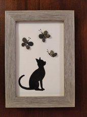 Gattino con farfalle