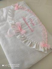 borsa nascita per primo bagnetto rosa