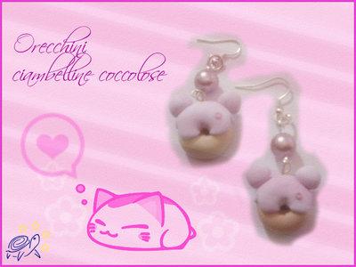 orecchini ciambelline orsetto