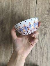 Ciotoline per antipasti/gelato dipinte a mano con mandala