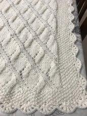 copertina color panna di lana
