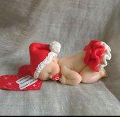 Bebè bimba versione natalizia fimo