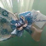 Sacchettino con farfalla in cristallo