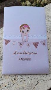 Sacchetto carta personalizzato nascita/ battesimo bimba