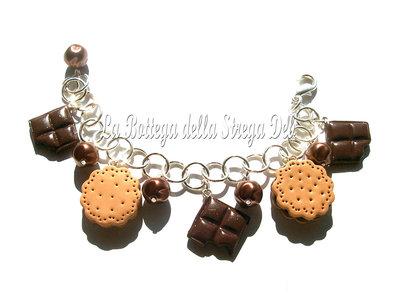 Bracciale biscotti e cioccolato