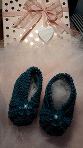 Scarpine neonata e vestitino in cotone 0/3 mesi con confezione regalo personalizzata