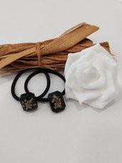 Accessori capelli fiori veri fiori bianchi fiori di campo elastici per capelli donna bigiotteria donna