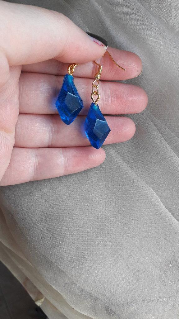 Orecchini blu eleganti