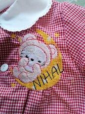 Grembiule hello kitty con nome e disegno personalizzato