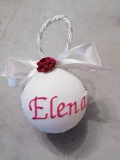 Pallina natalizia con nome  8cm