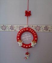 Ghirlanda natalizia con angioletti