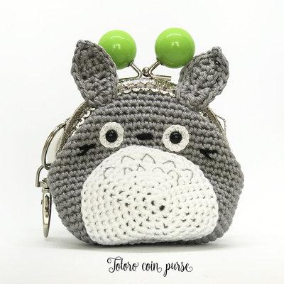 Totoro borsellino portamonete amigurumi uncinetto