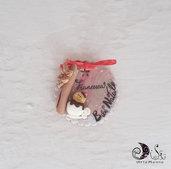 Medaglia addobbo natalizio personalizzabile cannella e cioccolato
