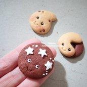 Biscotti sorridenti- ciondolo fimo