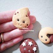 Calamita biscotti sorridenti- Pan di stelle abbracci gocciole fimo