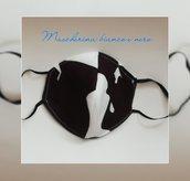Mascherina  nera  copri bocca e naso lavabile