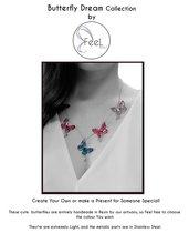 Collana 5 Farfalle personalizzabile