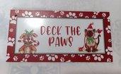 targa con spago legno natale fuoriporta ornamento decorazione natalizia animali cane gatto