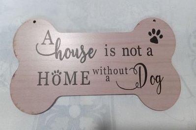 targa con spago legno ornamento decorazione casa amore animali cane gatto