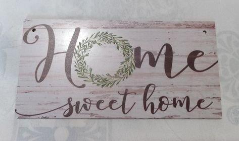 targa con spago legno ornamento decorazione casa home sweet home