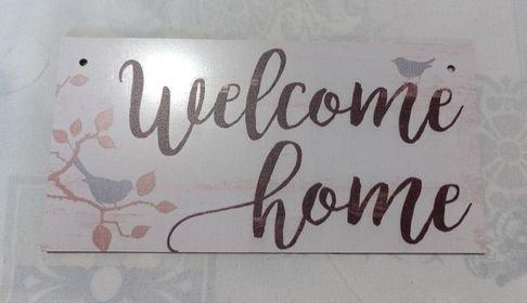 targa con spago legno ornamento decorazione casa welcome home