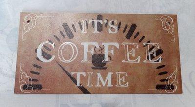 targa con spago legno ornamento decorazione casa it's coffee time