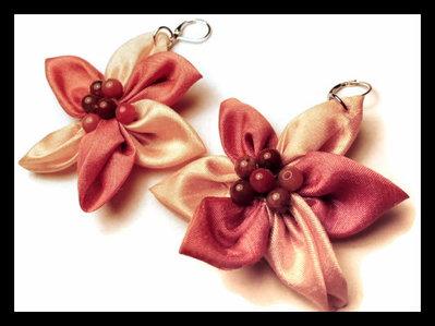 orecchini in stoffa arancioni