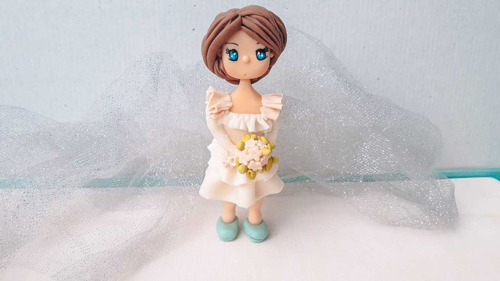 Cake Topper comunione, Statuina sopra torta per Comunione, cake topper matrimonio fimo, cake topper prima comunione fimo, cake topper sposi fimo,