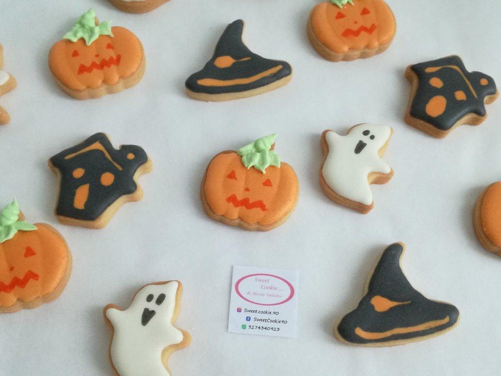 40 Biscottini Halloween, festa a tema, compleanno bambini, dolcetto o scherzetto, biscotti, biscotto