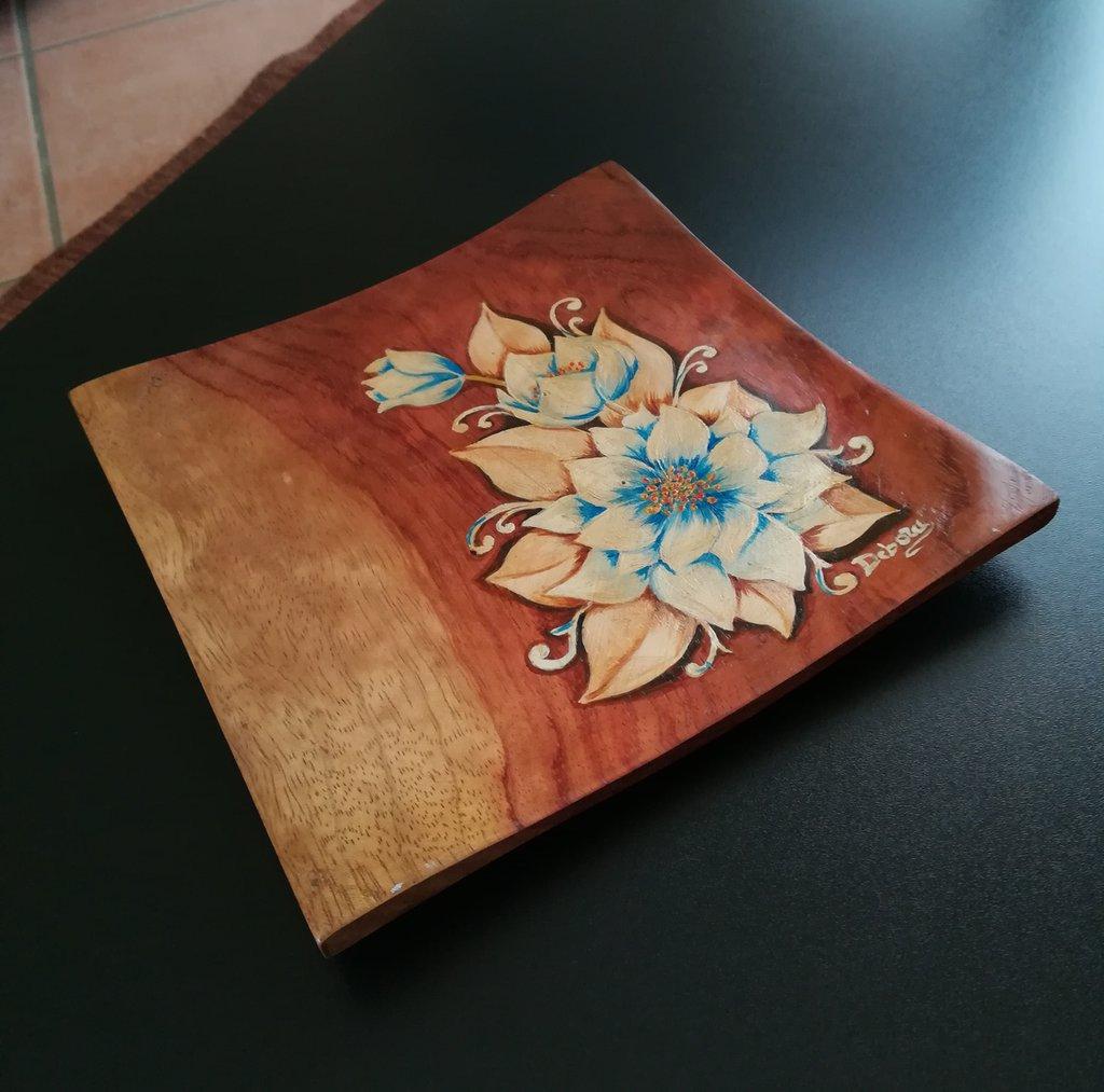 Svuotatasche legno verniciato