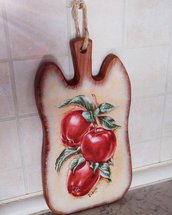 Tagliere Mele rosse - legno
