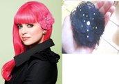 fiore per capelli in pizzo stile TARINA TARANTINO
