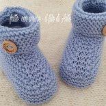 Scarpine stivaletti bambino in lana merinos 100%