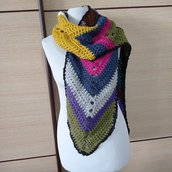 Sciarpa Donna Multicolore Prodotto Italiano