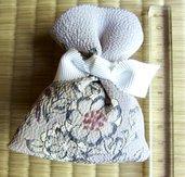 """Sacchetto profumato di Tessuto giapponese """"Chirimen"""" da Kimono Seta100% / Lavanda Bio100% Marchigiana 2020"""